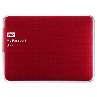 My Passport Ultra 1 TB USB 3.0 Portable- WDBZFP0010BRD-NESN (Red) -OPEN BOX