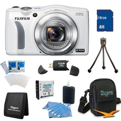 FinePix F750EXR 16MP EXR CMOS Digital Camera 16 GB Bundle (White)