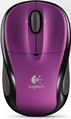 V220 Cordless Optical Mouse for Notebooks (Plum Purple)
