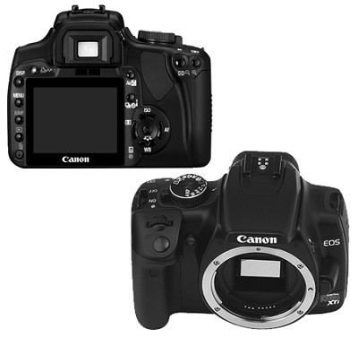 EOS Digital Rebel XTi Body (Black)  -  Lens Not Included