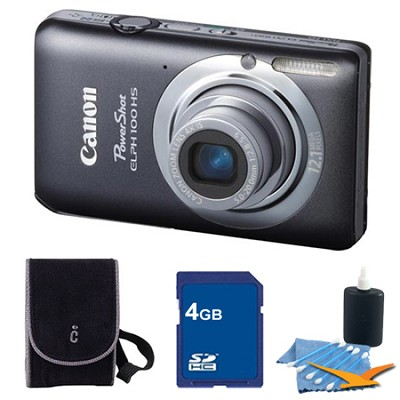 PowerShot ELPH 100 HS Grey Digital Camera 4GB Bundle