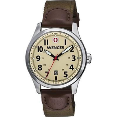 Men's Terragraph Watch - Sand Dial/Brown Olive Nylon Strap
