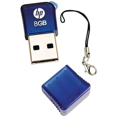 Ultra Compact 8GB USB Flash Drive with Carrying Key-fob