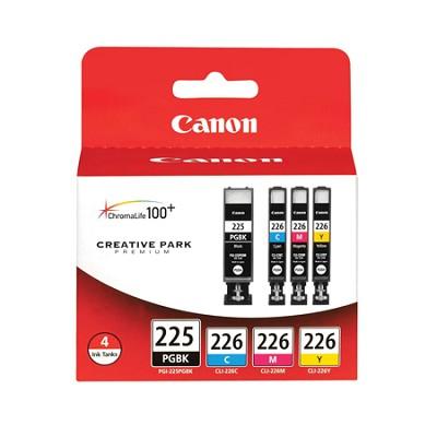 PGI-225/CLI-226 4 Color Value Pack for PIXMA MG5120, MG5220, iP4820 Printers