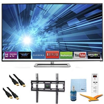 40-Inch 120Hz Razor LED Smart 1080p HDTV Plus Mount & Hook-Up Bundle - M401I-A3