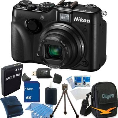 COOLPIX P7100 Digital Camera w/ 7.1x Zoom 16GB Bundle