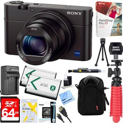 Cybershot RX100 III 20.2MP Digital Camera w/ 64GB Dual Battery Accessory Kit