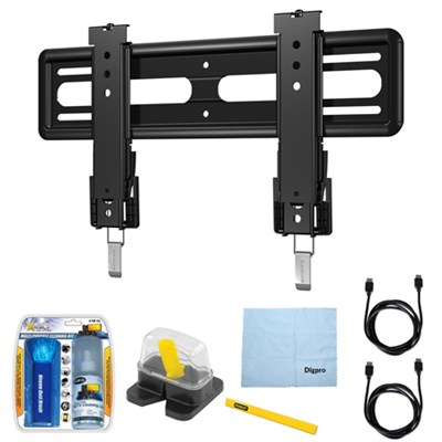 40`-50` Premium Series Fixed Flat Panel Mount/10-95 w/ Accessories Bundle