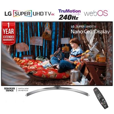SUPER UHD 65` 4K HDR Smart LED TV (2017) + 1 Year Extended Warranty -Refurbished