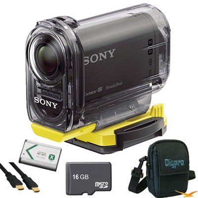 HDR-AS15/B Compact POV Wi-Fi Enabled Action Camera Ultimate Bundle