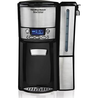 BrewStation 12 Cup Dispensing Coffee Maker w/ Removable Reservoir