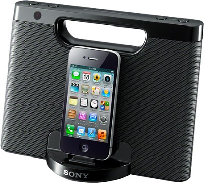 RDPM7IP/BLK Speaker Dock for iPod and iPhone (Black) - OPEN BOX