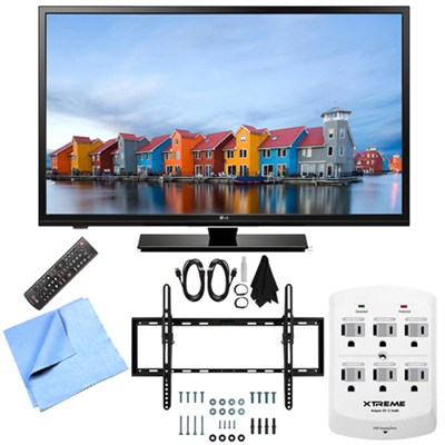 32LF500B - 32-Inch 720p 60Hz LED HDTV Tilt Mount & Hook-Up Bundle