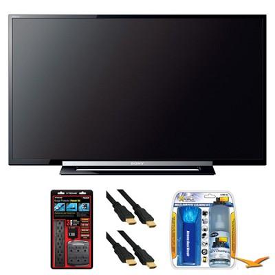 KDL-40R450A 40` 120Hz 1080p Black LED HDTV Surge Protector Bundle