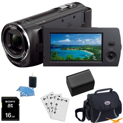 HDR-CX230/B 8GB Full HD Flash Memory Camcorder Essentials Bundle