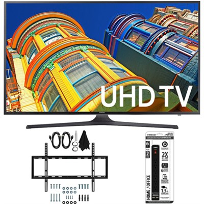 UN50KU6300 - 50-Inch 4K UHD HDR Smart LED TV w/ Slim Wall Mount Bundle