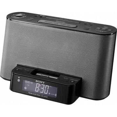 ICF-CS10IPBLK Alarm Clock Radio with Speaker Dock for iPod and iPhone - OPEN BOX