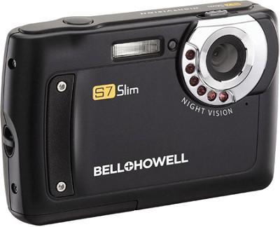 S7 IR Night Vision Slim 12.2 MP Black Digital Camera w/ 5X Zoom, 2.7` LCD