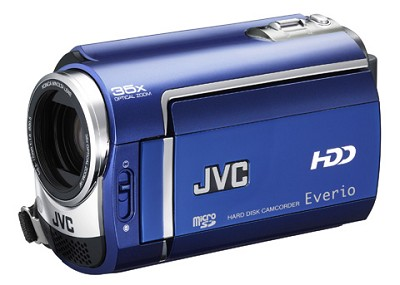GZMG330  Hard Disk HDD/micro SD Hybrid Camcorder (Sapphire Blue)