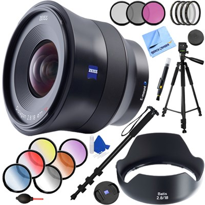 Batis 18mm f/2.8 Wide Angle Lens for Sony E Mount + 77mm Filter Sets Kit