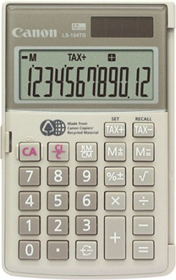 LS-154TG Handheld Calculator - made from the recycled materials of Canon
