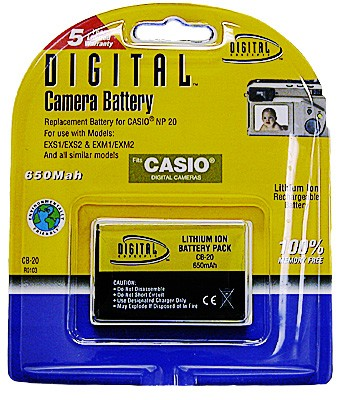 NP-20 Lithium Replacement Battery f/ Casio Exilim