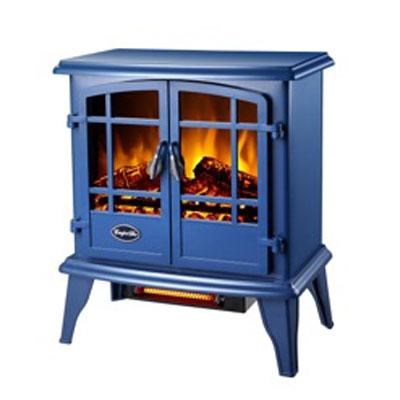 Comfort Glow Keystone Quartz Electric Stove in Blue - EQS133