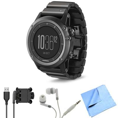 fenix 3 Multisport Training GPS Watch Sapphire Bundle