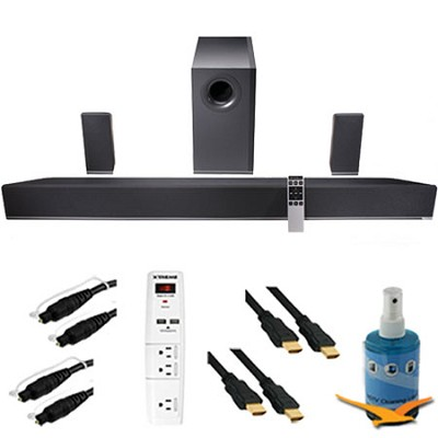 42` 5.1 Home Theater Sound Bar Subwoofer & Speakers Plus HookUp Bundle S4251W-B4