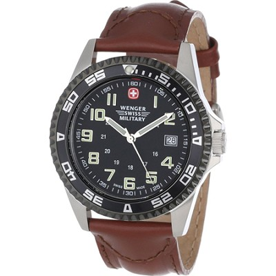 72935 Men's Sport VII Black Dial / Brown Strap