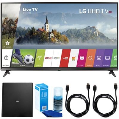 49` UHD 4K HDR Smart LED TV (2017 Model) w/ Terk Indoor Antenna Bundle