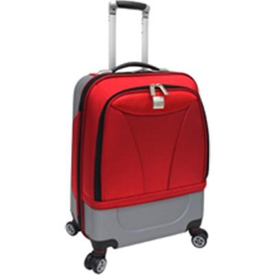 U.S. Traveler 20` Hybrid Carry-On Spinner Luggage, Red