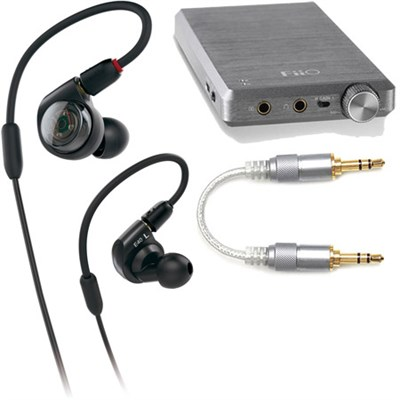 ATH-E40 Professional In-Ear Monitor Headphones + FiiO E12A Amplifier & Cable Kit