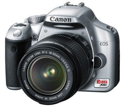 EOS Digital Rebel XSi / 450D w/ EF-S 18-55mm IS Lens Silver Kit