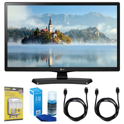 28LJ4540 28` 720p HD LED TV (2017 Model) w/ Accessories Bundle