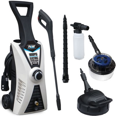 1800 PSI Electric Pressure Washer with Accessory Bundle