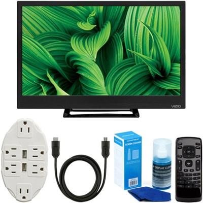 D24hn-E1 D-Series 24` Class Edge-Lit LED TV + USB Outlet & Accessory Kit
