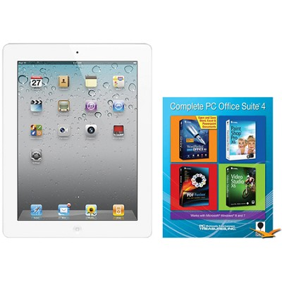 iPad 2 (16GB, AT&T 3G, White) Certified Open Box & Office Suite 4 for PC Bundle