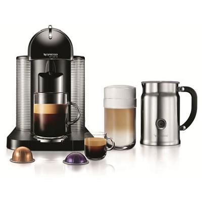 VertuoLine Coffee and Espresso Maker with Aeroccino Plus Milk Frother, Black