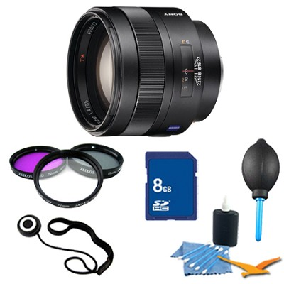 SAL85F14Z - Carl Zeiss Planar T 85mm f1.4 Telephoto Lens Essentials Kit