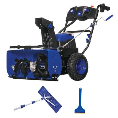 Ion Cordless 2-Stage Snow Blower +Bonus Ice Scraper +Roof Rake Bundle