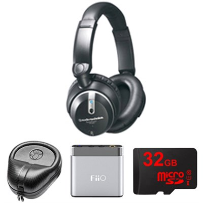 Quitepoint Noise Canceling Headphones - ATHANC7B w/ FiiO A1 Amp. Bundle