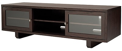 JFV60C - Dual Purpose Wide 3 Shelf A/V Cabinet, TVs up to 63` (Chocolate Finish)