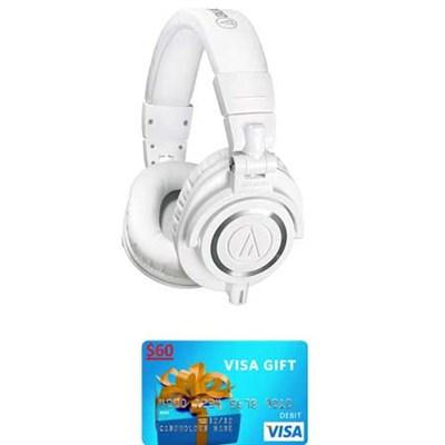 ATH-M50X Professional Studio Headphones(White)