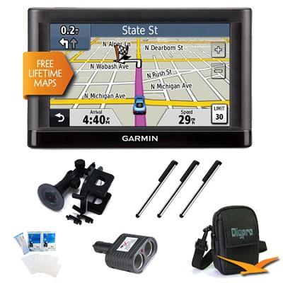 nuvi 52LM 5.0` GPS Navigation System with Lifetime Map Updates Ultimate Bundle