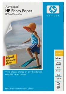 Advanced Glossy Photo Paper-100 sht/4 x 6 in borderless (Q6638A)