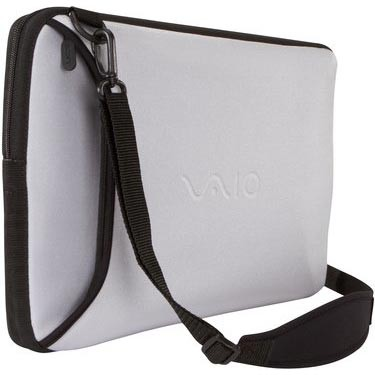 VAIO VGP-AMC9/S Reversible 15.5` Notebook Sleeve - Black and Silver