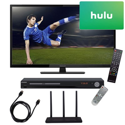40 1080p 60Hz LED HDTV w/ Terk Trinity HD Antenna $25 Hulu Gift Card