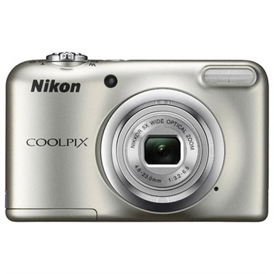 COOLPIX A10 16.1MP 5x Zoom NIKKOR Glass Lens Digital Camera - Silver Refurbished