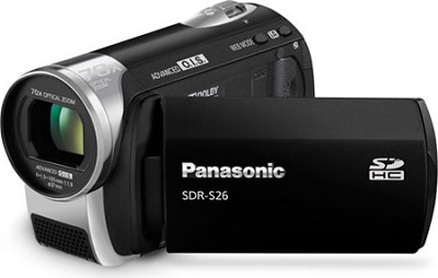 SDR-S26K - SD memory card Camcorder with 70x Zoom & OIS (Black) - OPEN BOX